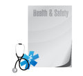 Healthy and safety medical illustration design over a white background Stock Image