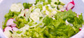 Healthy salad background mix of bio vegetables and Stock Images