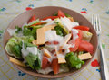 Healthy salad in bowl ready to eat Royalty Free Stock Photos