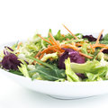 Healthy salad with carrots over white background Stock Image