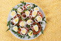 Healthy salad with eggs Royalty Free Stock Photography