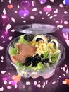 Healthy salad with love