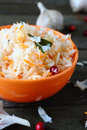 Healthy sauerkraut with cranberries food close up Stock Photography