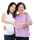 Healthy senior and adult offspring Stock Photography