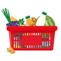 Healthy shopping cart Royalty Free Stock Photography