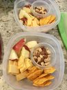 Healthy snacks to go Royalty Free Stock Photo