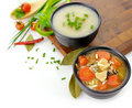 Healthy Soup Bowls Stock Images