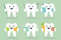 Healthy teeth set