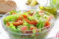 Healthy tomao and lettuce salad Royalty Free Stock Photo