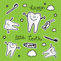 Healthy tooth cartoon wallpaper Stock Photography
