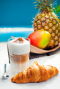 Healthy tropical snack with Coffee Stock Image