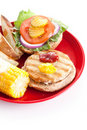 Healthy Turkey Burger - Vertical Stock Photos