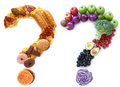 Healthy unhealthy food choices Royalty Free Stock Photo