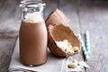 Healthy vegan chocolate coconut shake
