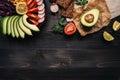 Healthy Vegan Food Concept. He...