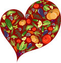 Healthy vegetable heart Stock Photography