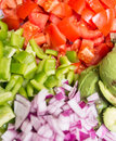 Healthy vegetables chopped and colorful Royalty Free Stock Images