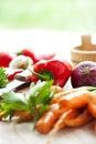 Healthy vegetarian diet food vegetables Stock Photos