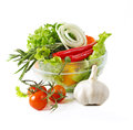 Healthy vegetarian salad Royalty Free Stock Photos