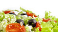 Healthy vegetarian salad  on white Royalty Free Stock Images