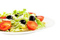 Healthy vegetarian salad  on white Stock Images
