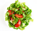 Healthy vegetarian Salad on the white plate Royalty Free Stock Photo