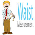 Healthy Waist Measurement Royalty Free Stock Photography