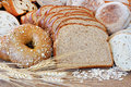 Healthy whole grain breads Stock Image