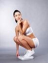 Healthy woman after diet Stock Images