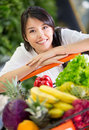 Healthy woman shopping Royalty Free Stock Photography