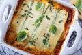 Healthy zucchini lasagna bolognese Royalty Free Stock Photo