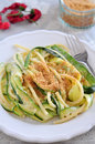Healthy Zucchini Pasta Royalty Free Stock Photo