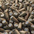 Heao of metal bullets pool piles heap d rendering Stock Photography