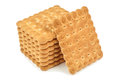 Heap of biscuits cookies on white background Stock Images