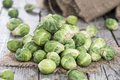 Heap of brussel sprouts small fresh Royalty Free Stock Images