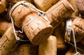 Heap of champagne and wine corks Royalty Free Stock Photo