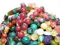 Heap of colored beads Royalty Free Stock Image