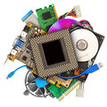 Title: Heap of computer hardware
