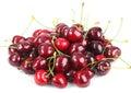 Heap of a dark-red sweet-cherry Stock Photo