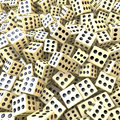 Heap of dice sure win perfect game loaded dice d rendering Royalty Free Stock Photography