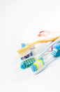 Heap of different multicolored toothbrushes Royalty Free Stock Photography