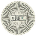 Heap of dollar bank notes Stock Image