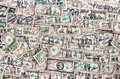 Heap of dollars banknotes background for business concept Royalty Free Stock Photography