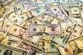 Heap of dollars. Royalty Free Stock Photo
