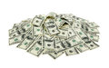 Heap of dollars money background Stock Photos
