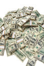 Heap of dollars studio photography american moneys hundred dollar Stock Images