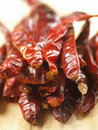 Heap of dried red chilies Royalty Free Stock Photography