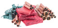 Heap of Firecrackers on white Royalty Free Stock Photo