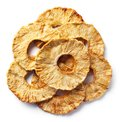 Heap of freeze dried pineapple slices Royalty Free Stock Photo