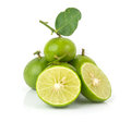 Heap of fresh lime on white background Royalty Free Stock Photo